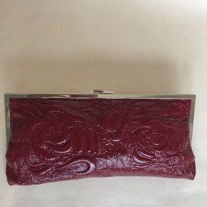 Red Hobo clutch bag